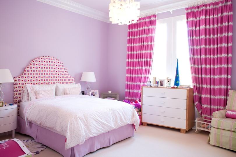 Decoração Dicas de cortinas pink para quarto feminino  ~ Quarto Rosa E Roxo