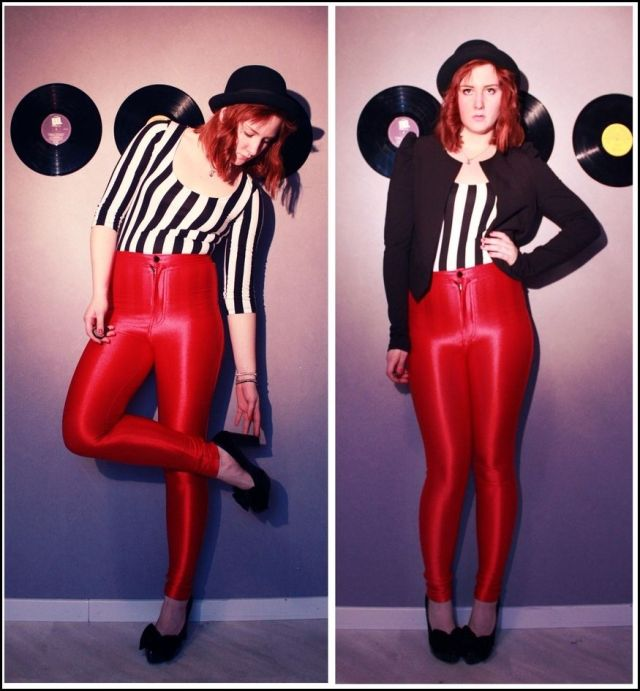 american-apparel-disco-pants-red