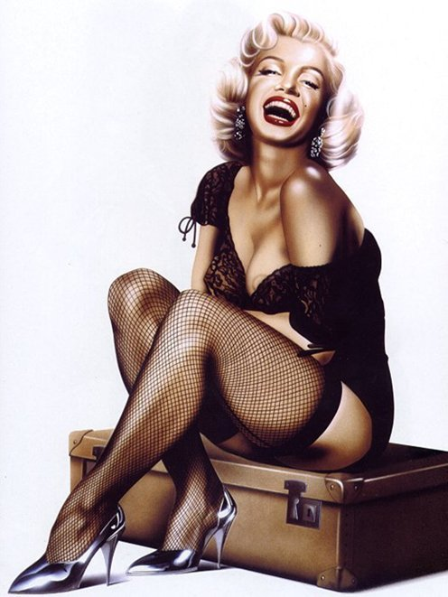 Diez-does-Marilyn-Monroe-pin-up-girls-5438485-525-700