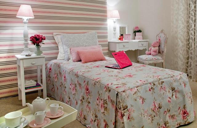 Decoração Quarto rosa chá Papo Mini Saia ~ Quarto Rosa Romantico