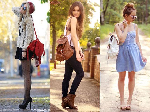 Bolsa Mochila Feminina Como Usar : Looks usando mochila papo mini saia