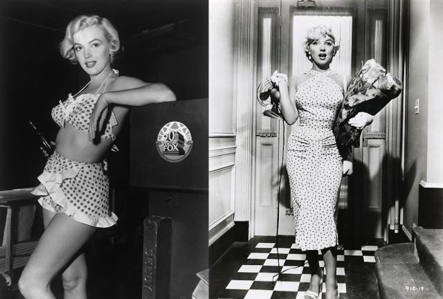 História-da-Moda-Estampa-de-Bolinhas-Poá-Marilyn-Monroe-filme